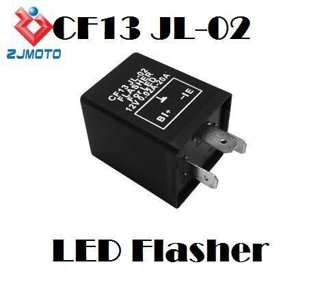 Motocicleta 3 pin electronic flasher led blinker fix señal de vuelta S 12 v relay fix flasher para bombillas led indicadores cf13 Jl-02