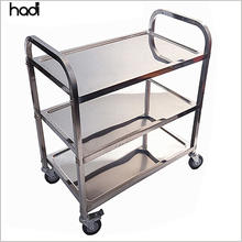 Hotel restaurant food service trolley stainless steel 3 tier catering buffet trolley cart