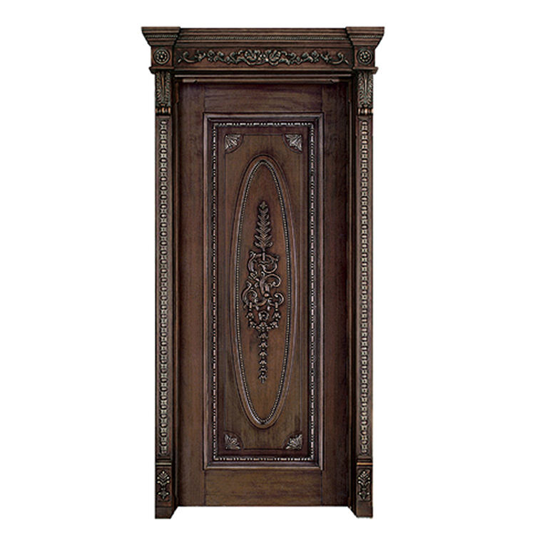 Factory Directly Beautiful Hand Carved Luxury Models In Brazil Wood Enter Door