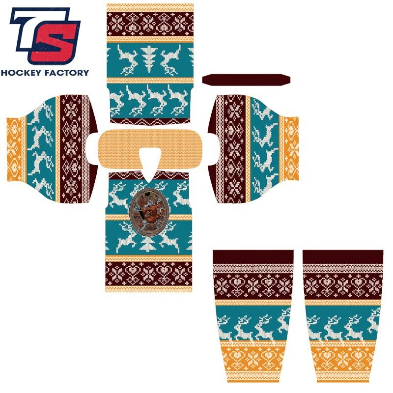 ealer Hot Reversible Dye Sublimation Custom Ice Hockey Jersey Goalie/Team Ice Hockey Apparel