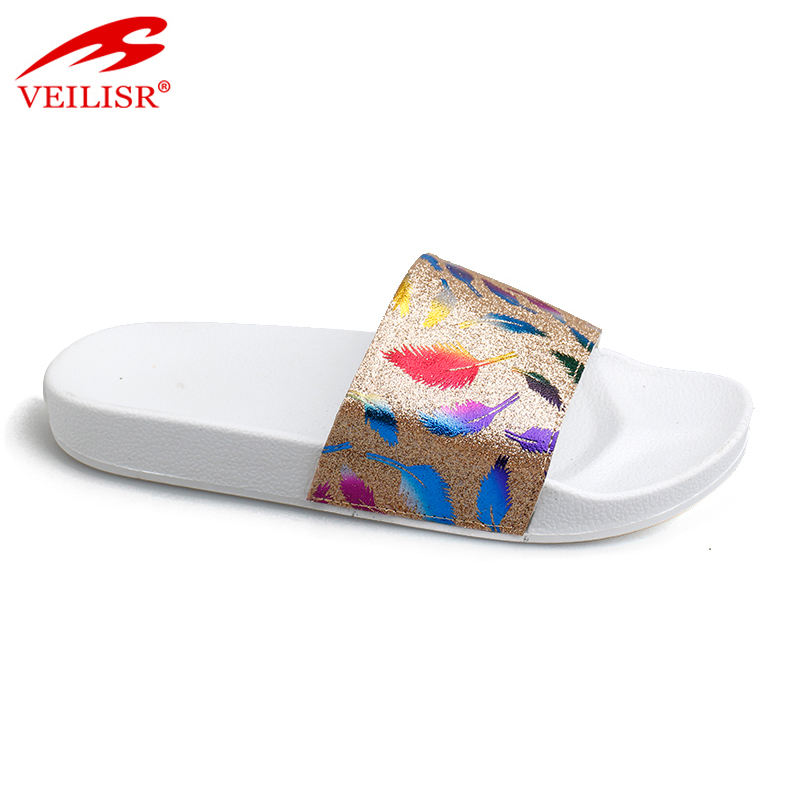 New model fancy ladies PU slide sandals PVC sole women slippers