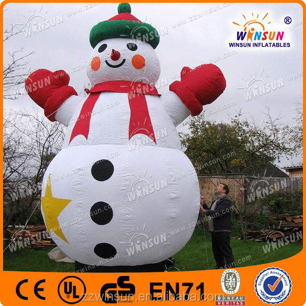 best sale artificial foam inflatable christmas snowman