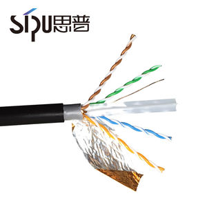 SIPU outdoor cat6a network cable utp ftp 305m function electric cable 23/24 awg black