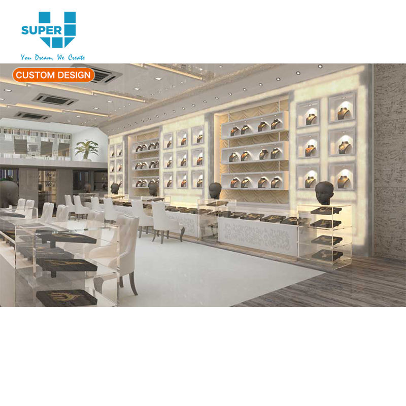 Shopping Mall High-End Kiosk Gold Luxury Jewellery Showroom Furniture Designs for Retail