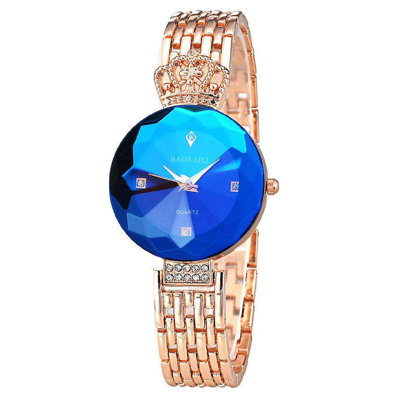 BAOSAILI Brand Charm Diamond Women Watch Hot Selling Royal Crown Wrist Watch Bracelet Straps Ladies Watch