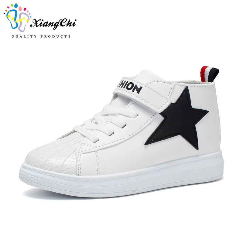 wholesale pu high ankle sport kids shoes