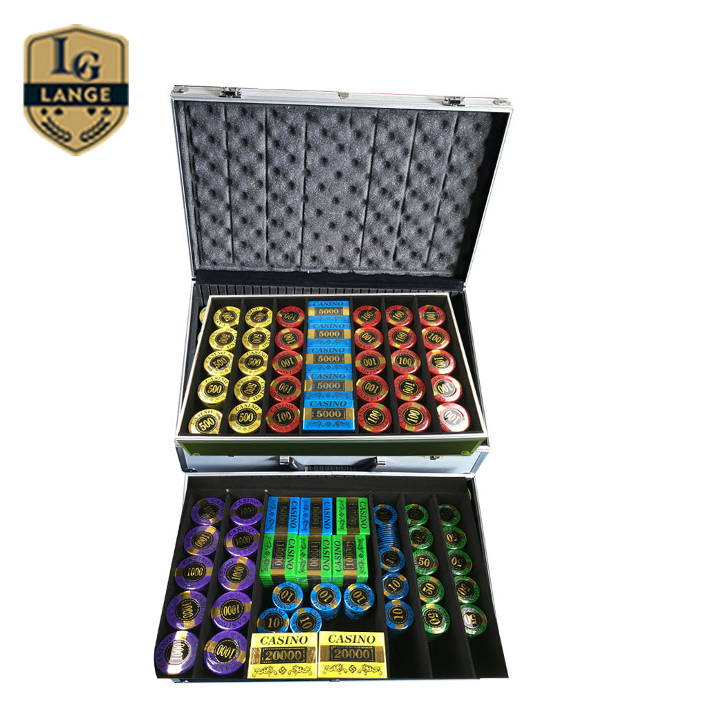 Fancy Fichas de Poker Chips Ologramma poker chips Premium Poker Chip Set