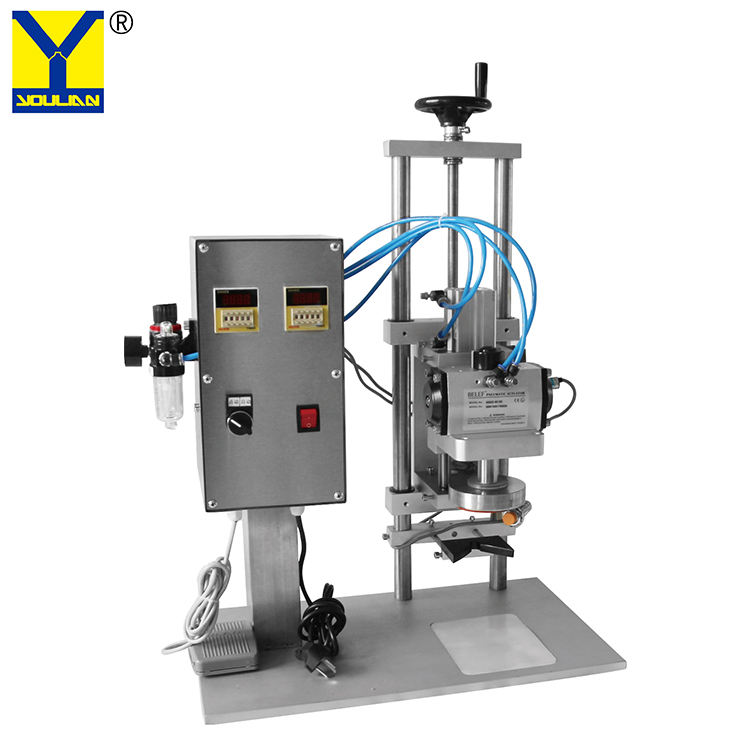 BX-50 Semi Automatic Twist Off Capper Glass Bottle Capping Machine for Iron Cap