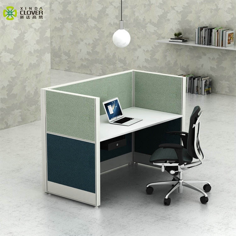 Hot Selling T8 Series modern design single computer desk aluminum partition office cubicle laptop workstation