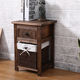 wooden cabinet with wicker drawers with lining for bedroom furniture