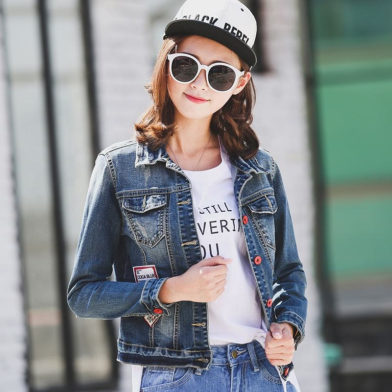 Eco-friendly sexy fashion breathable blue denim jeans women jacket,jeans jacket for girl