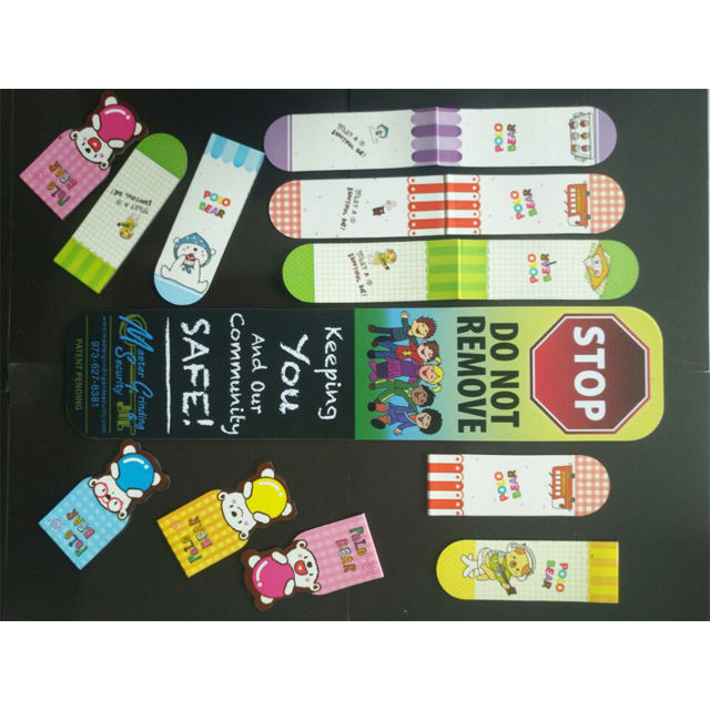 Customized high quality wholesale Folding Magnet Bookmarks