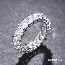 Sevenajewelry SAR55012 Wholesale Round Shaped  Sterling Silver 925 Cz Ring, Diamonds Engagement  Wedding Rings Jewelry For Women