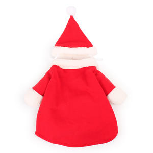 Santa Claus Winter Christmas Cotton Cat Clothes Pet Dog Cat Costume