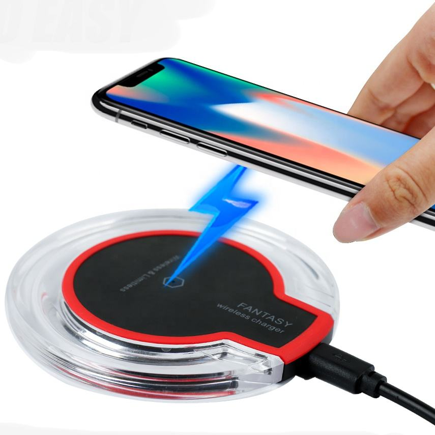 Wireless Charging Pad Qi Universal Charger Compatible All Brand Support Wireless charger Phone With LED Light Wireless Charger