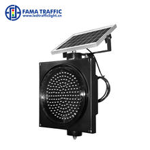 200mm warning light Powered by solar Blinking Warning Light