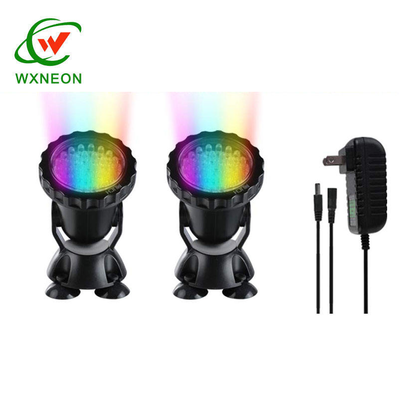 Lawn Light Waterproof IP68 Submersible Spotlight LED Color Changing Spot Light for Garden Fountain Waterfall