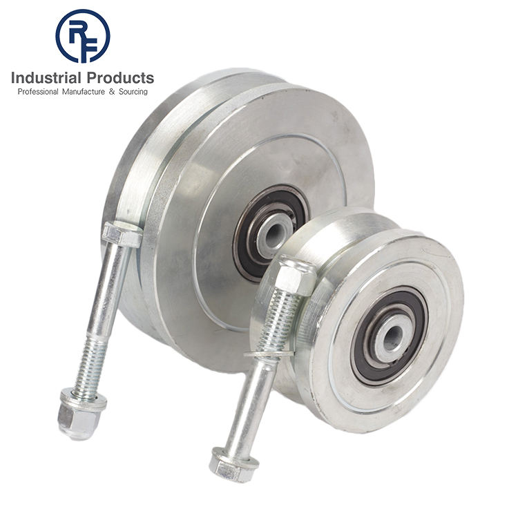 Iron V Groove Sliding Gate Wheels with Roller Bearing