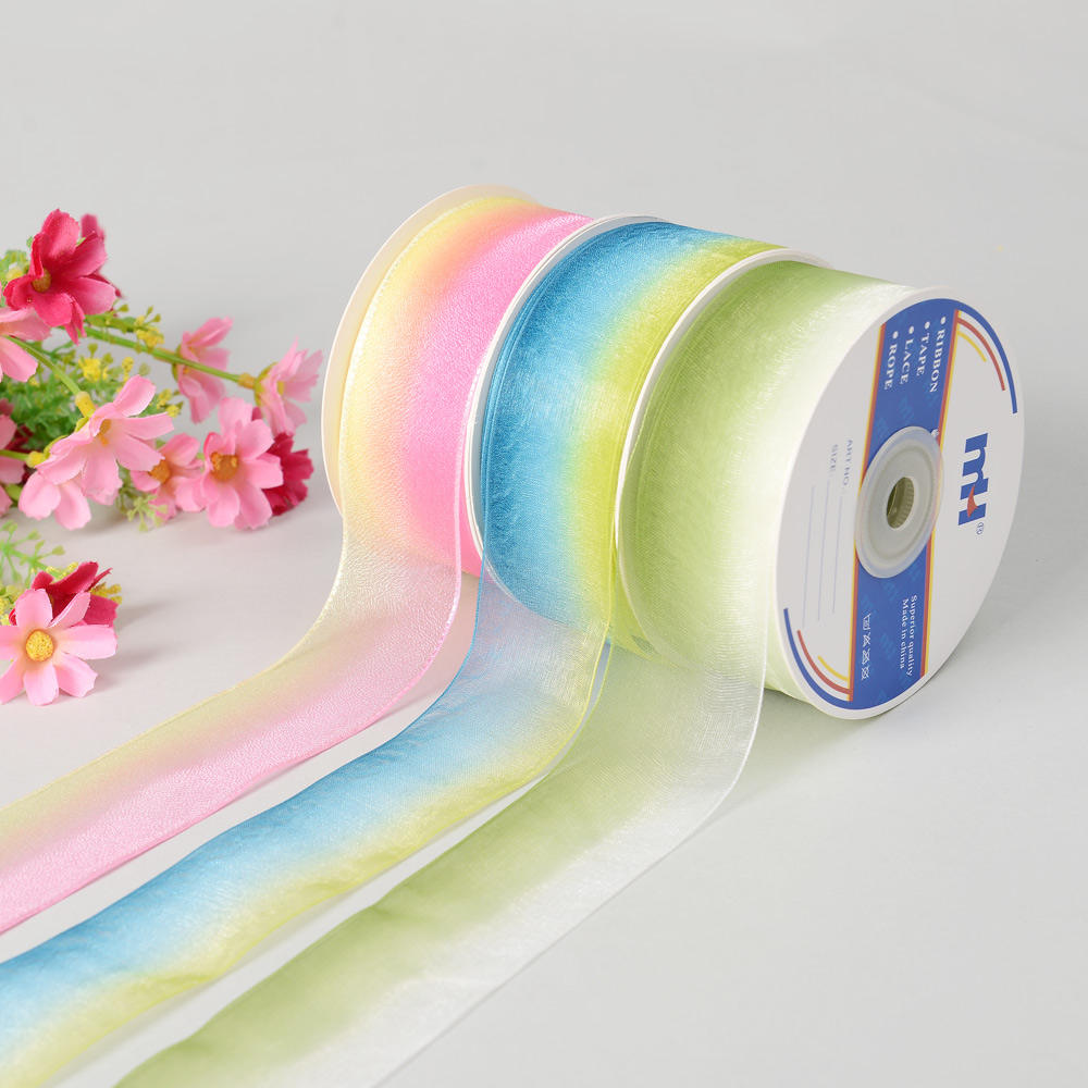 38mm Rainbow Sheer cinta multi color