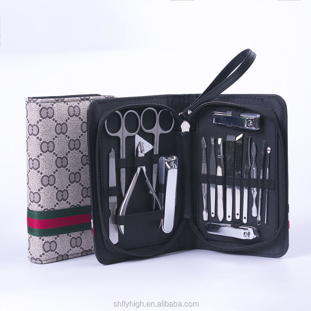 Manicure Set 16 Pcs Manicure Set Manicure Kit Pedicure Kit In PU Bag For Men