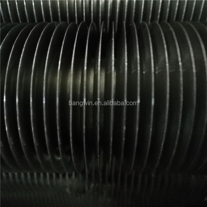 Tubo en espiral con aletas KL tipo L base de acero de carbono tubo y aletas de aluminio para el refrigerador