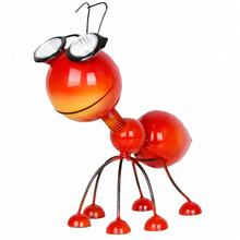 Cute Animal Figurines Solar Powered Led Light Ant Garden Ornaments