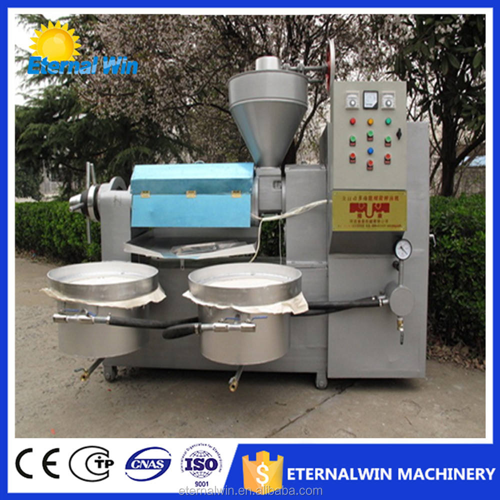 6YL-125 middle scale movable multifunctional used in many seeds corn soybean peanut tea seeds coconut peanut oil press machine