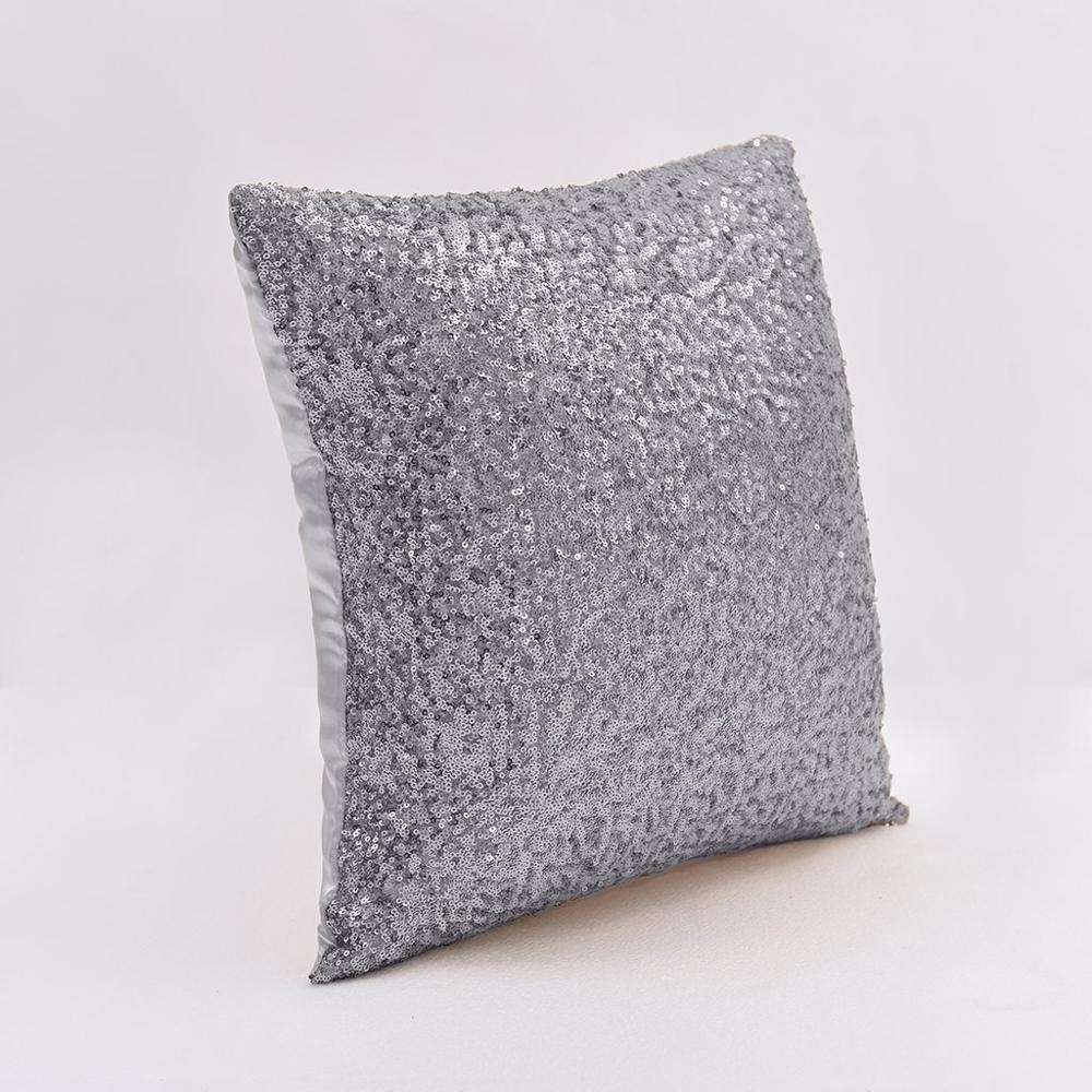 Home decoration sequin throw pillow one side
