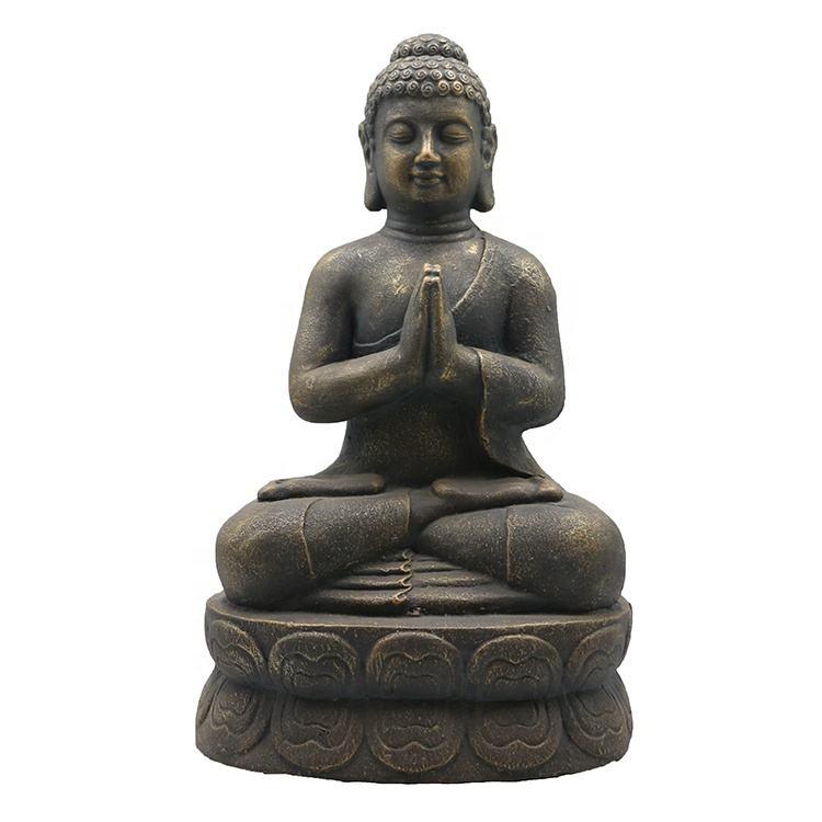 China fabrik großhandel harz kupfer sitzen beten bronze buddha statue für verkauf