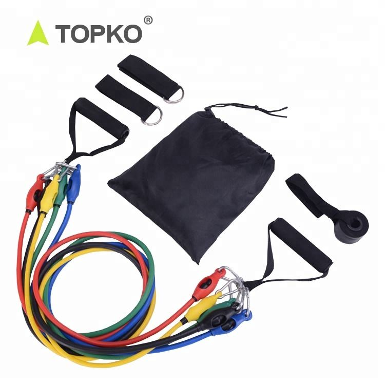 TOPKO Anti Snap Resistance Training Workout Band Exercise 11pcs resistance Band Set