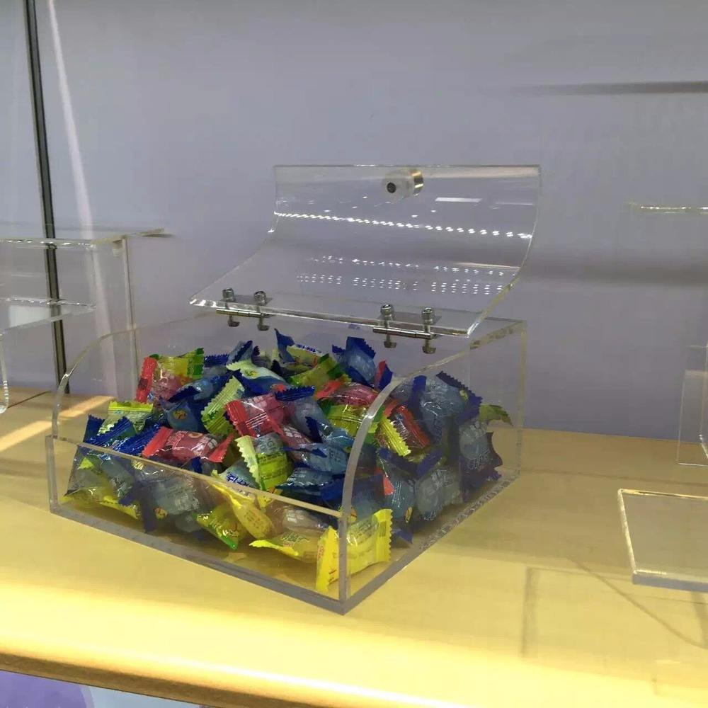 Clear acrylic candy/cereal dispenser/store acrylic candy box