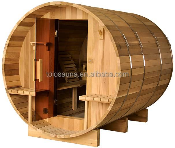 屋外スチームサウナ/バレルスチームルーム/木材足浴バレル家庭用