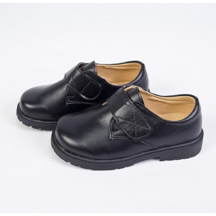 black leather school shoes