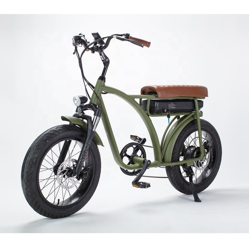 Super <span class=keywords><strong>Chopper</strong></span> 73 Elektrische Fiets Cruiser Fat Tire 750 W/500W 48V
