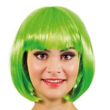 Most Popular Cosplay Synthetic Chic Sexy 8 Inch Cut Cheap Short Bob Wigs Green For Party Ladies Wig Factory Under $5