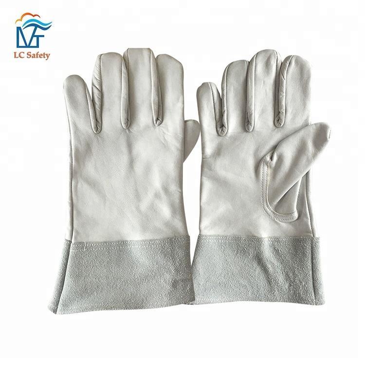 Männer Industrielle Hand Schutzhülle Leder <span class=keywords><strong>Mig</strong></span> Sicherheit Tig Schweißen Handschuh