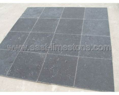 black stone tile flooring