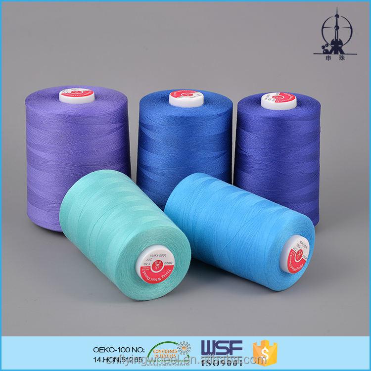<span class=keywords><strong>Reine</strong></span> qualität gefärbt großhandel polyester nähgarn für anzug kleid
