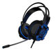 K2 Hi Sound PC gaming headset ABS high quality brand new material, double 3.5+USB with long glowing mic and cool blue LED light.