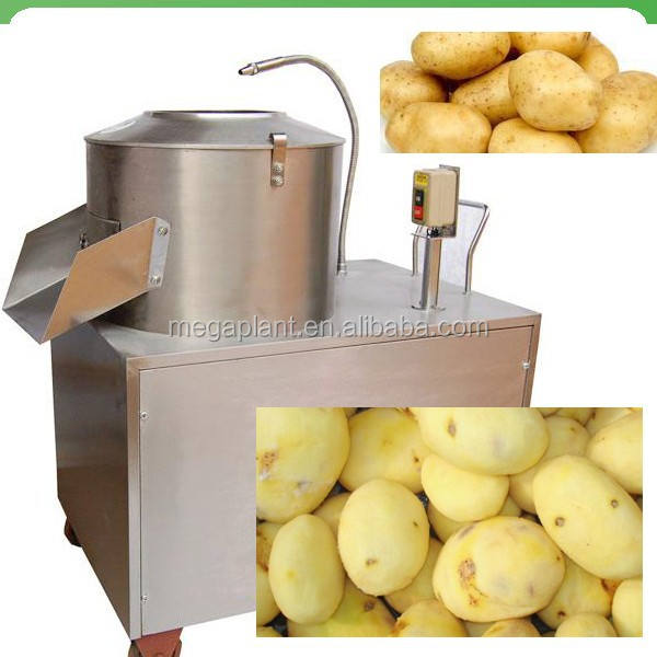 Potato chips cutting machine/ Potato washing peeling and slicing machine