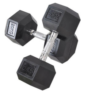 Hot Sale Fitness Rubber Coated Hex Dumbbell