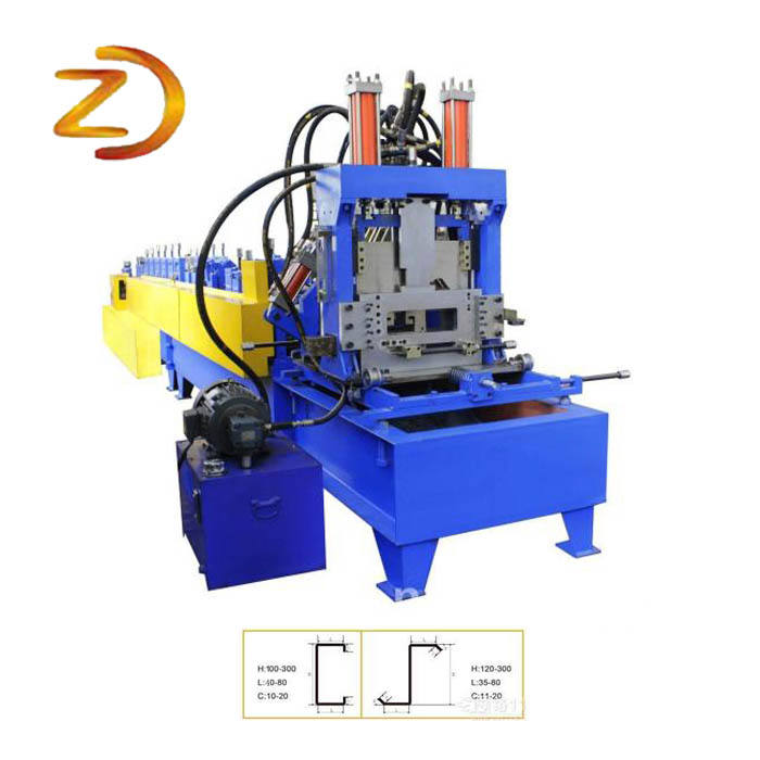C Z Shape Section Purlin Roll Forming Machine