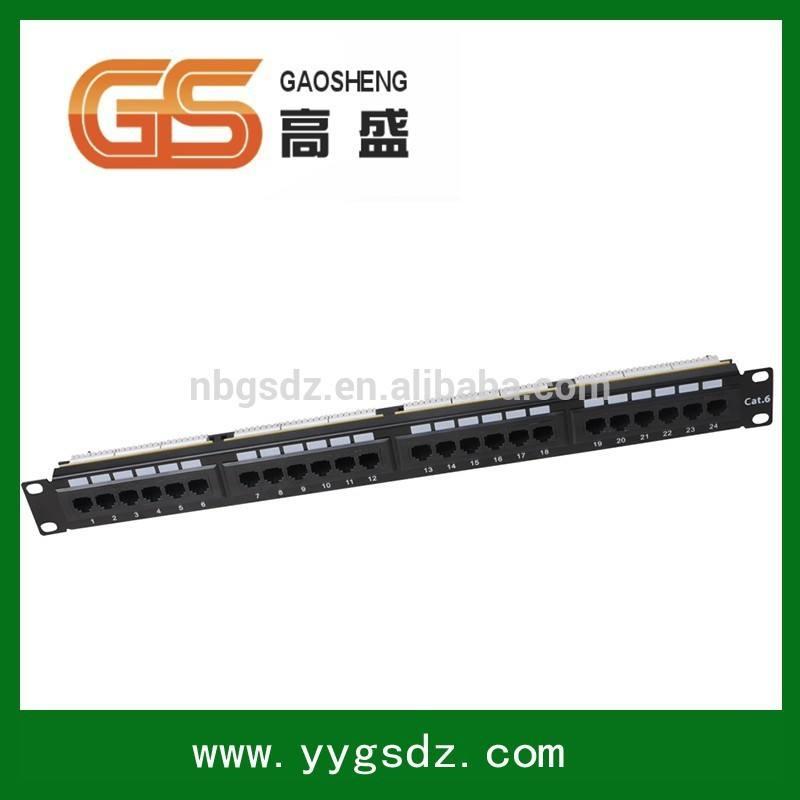 Fibra óptica de la red Systimax UTP 1U 3 x 8 Cat6 24U puertos Patch Panel