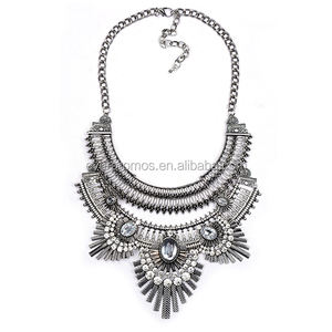 Factory Direct Sale Vintage Silver Color Necklace 2017 Fashion Women Jewelry Choker