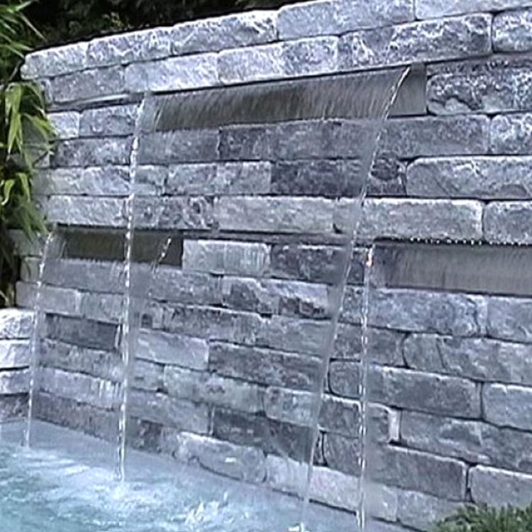Good quality stainless steel water feature sheer descent for swimming pool fountain and waterfall