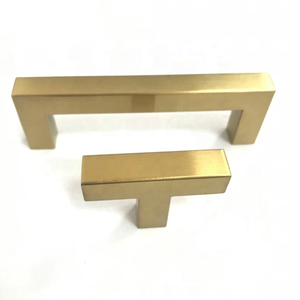 Stainless Steel Hollow 12x12mm Square Bar Pull Design USA Kitchen Bathroom Drawer Door Brush Gold Handle Pull