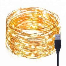 Twinkle dimmer usb copper wire battery decorative solar led christmas string light outdoor led string lights