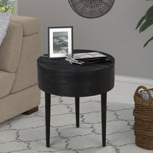 Movable leaf modern round wood nightstand /bedside table
