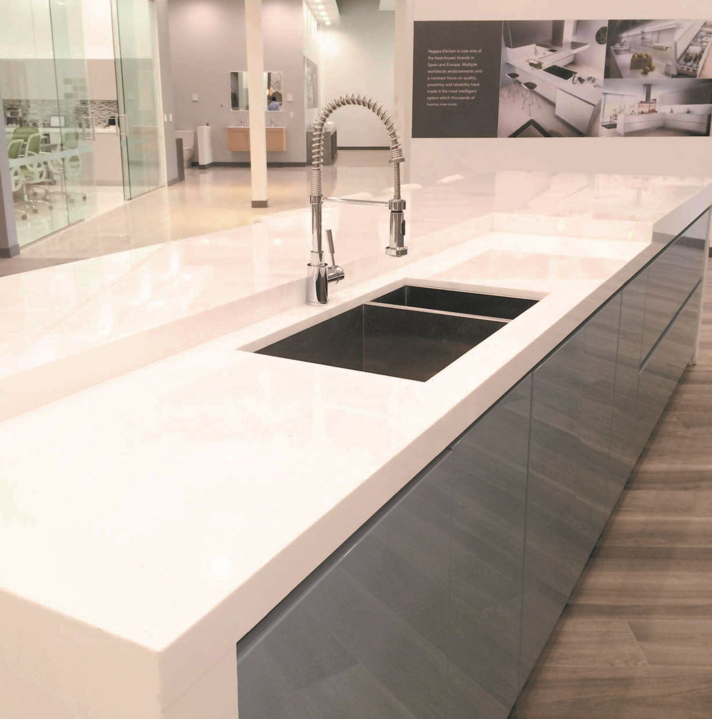 White Granite Quartz Stone For Kitchen