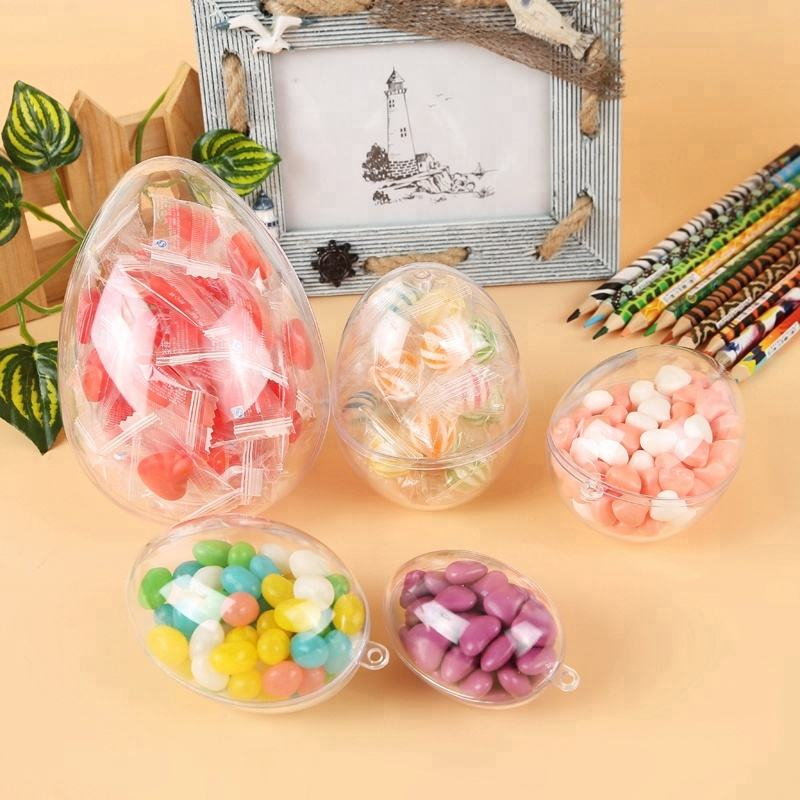 Transparent hanging balls openable plastic egg ball for decoration